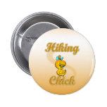 Hiking Chick 2 Inch Round Button