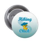 Hiking Chick #3 2 Inch Round Button