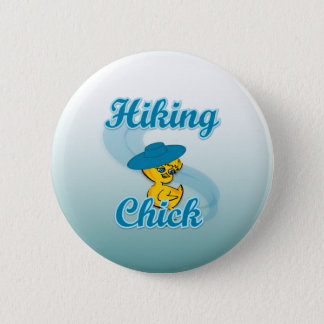 Hiking Chick #3 Pinback Button