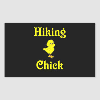 Hiking Chick Rectangular Sticker