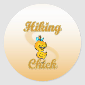 Hiking Chick Stickers