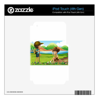 Hiking Decals For iPod Touch 4G