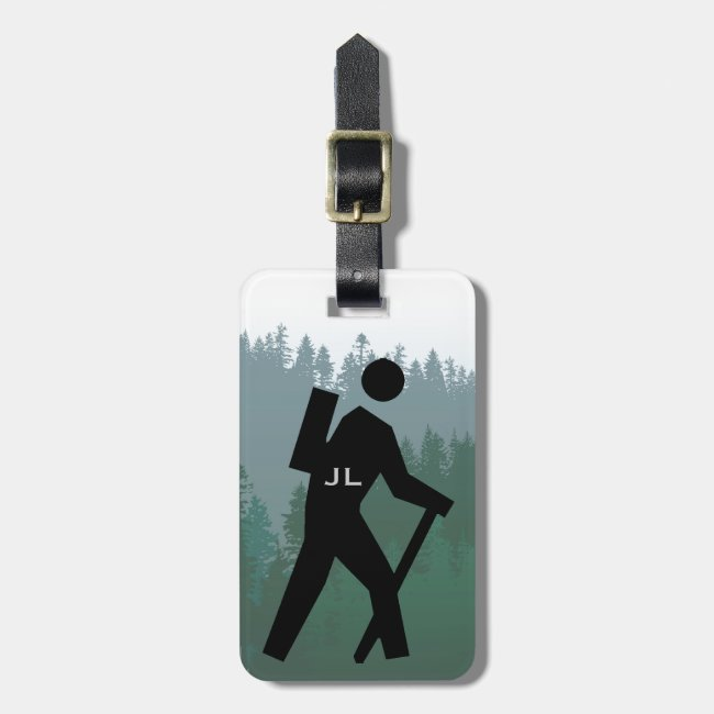Hiking Design Luggage Tag