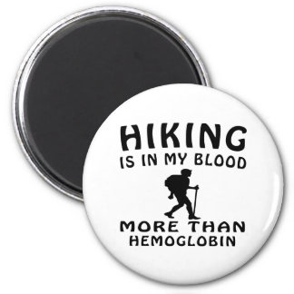 Hiking Design 2 Inch Round Magnet