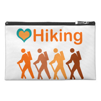 Hiking-Double Heart and Earth Toned Figures Travel Accessory Bag