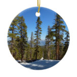 Hiking Down from Mitchell Peak at Sequoia Ceramic Ornament