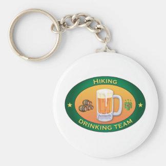 Hiking Drinking Team Basic Round Button Keychain