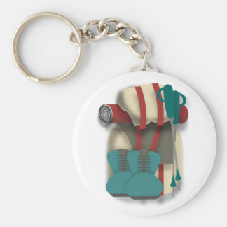 Hiking Equipment Keychain