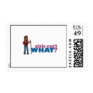 Hiking Girl Postage Stamp