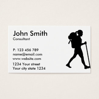 Hiking girl woman business card