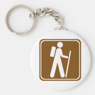 Hiking Highway Sign Keychain