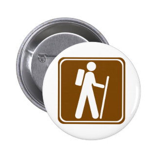 Hiking Highway Sign Pinback Button