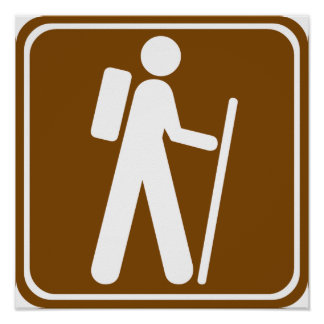 Hiking Highway Sign Poster