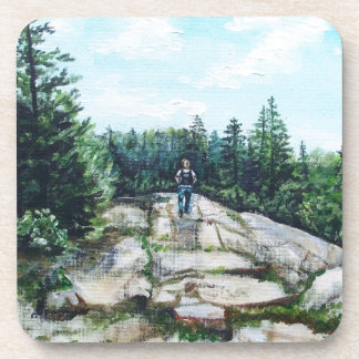 Hiking in Maine Drink Coasters