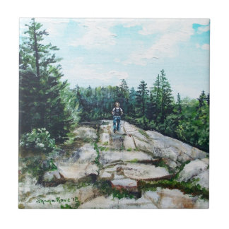Hiking in Maine Tile