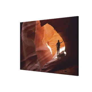 Hiking in the Corkscrew section of Antelope Canvas Print
