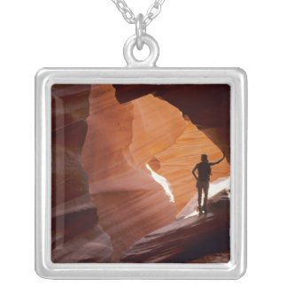 Hiking in the Corkscrew section of Antelope Square Pendant Necklace