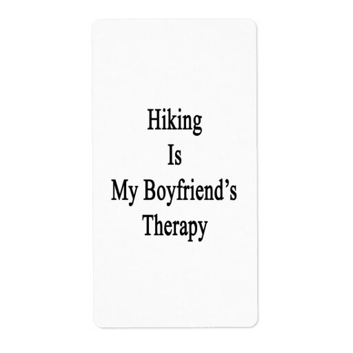 Hiking Is My Boyfriend's Therapy Custom Shipping Labels