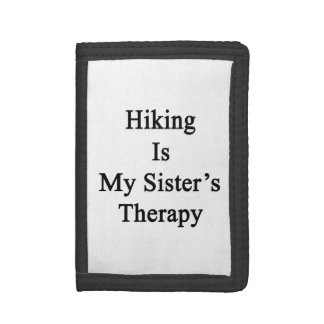 Hiking Is My Sister's Therapy Tri-fold Wallet