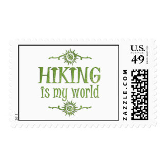Hiking is My World Stamp