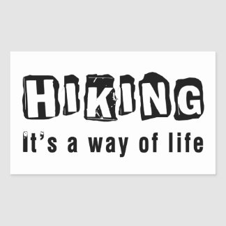 Hiking It's a way of life Rectangular Sticker