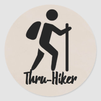 Hiking Lover Classic Round Sticker