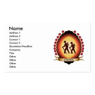 Hiking Mandorla Business Card Template