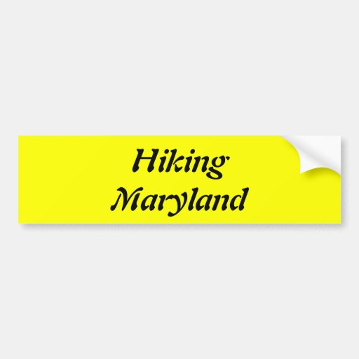 Hiking Maryland Bumper Stickers
