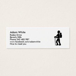 Hiking Mini Business Card