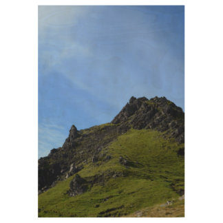 Hiking on Skye Wood Poster