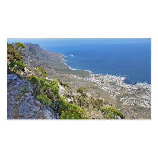 Hiking on Table Mountain- View over Camp s Bay Business Cards