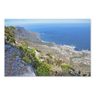 Hiking on Table Mountain- View over Camp s Bay Photographic Print
