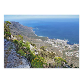 Hiking on Table Mountain- View over Camp's Bay Business Card Templates