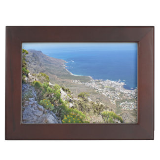 Hiking on Table Mountain- View over Camp's Bay Memory Box