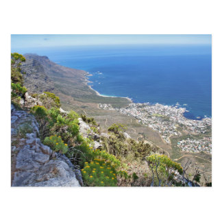Hiking on Table Mountain- View over Camp's Bay Postcard