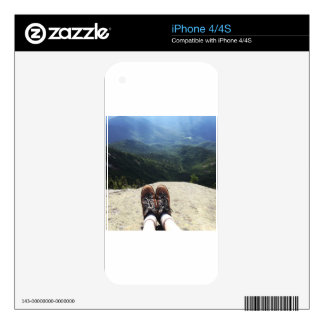 Hiking On Top of the World iPhone 4 Skins