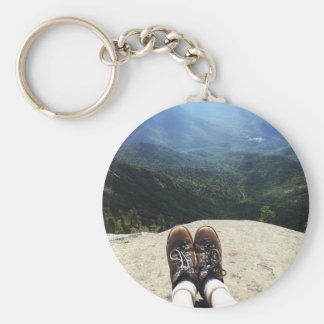 Hiking On Top of the World Keychain