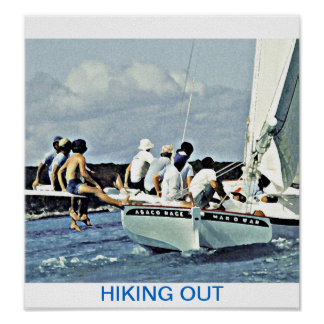 HIKING OUT ON MAN O WAR POSTER