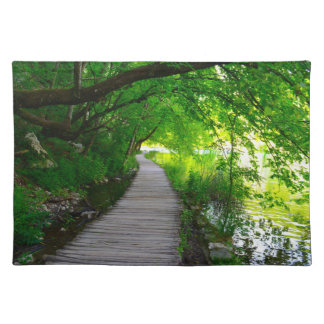 Hiking Path in Plitvice National Park in Croatia Cloth Placemat