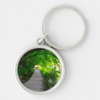 Hiking Path in Plitvice National Park in Croatia Keychain
