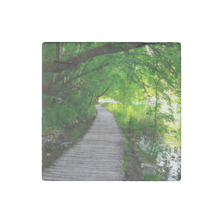 Hiking Path in Plitvice National Park in Croatia Stone Magnet