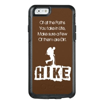 Hiking Phone Protector Otterbox Iphone 6/6s Case by Wilderness_Zone at Zazzle