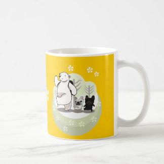 Hiking,polar bear and bull dogs coffee mug