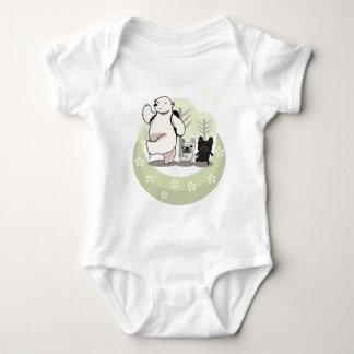 Hiking,polar bear and bull dogs t-shirt