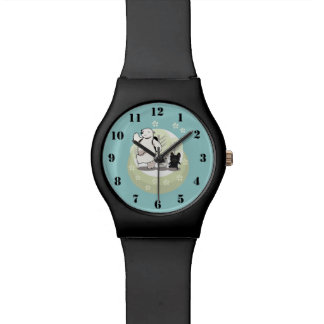 Hiking-polar bear and french bull dogs wristwatches