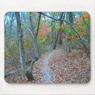 Hiking Right Up The Hill Mouse Pads