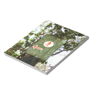 Hiking Sign Note Pad