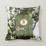 Hiking Sign Pillow