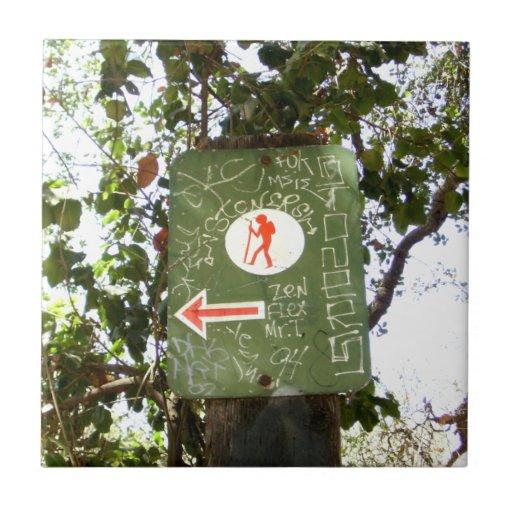 Hiking Sign Tile