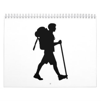 Hiking stick backpack calendar